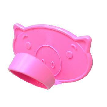 【日本sanada】粉紅豬隔熱止滑取盤夾(3入裝)