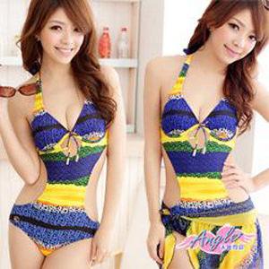 【天使霓裳】Summer腳步兩件式連身裙泳衣(共2色)SQ3011