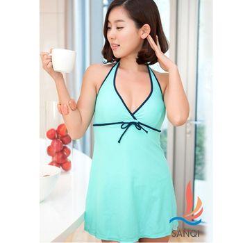 【SANQI三奇】完美渡假 連身式泳裝(共3色)SQ13110