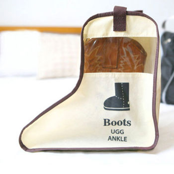 BOOTS 短靴透明視窗防塵收納袋2入