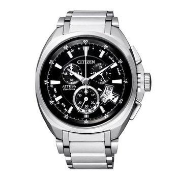 CITIZEN強烈型男光動能電波腕錶-黑BY0020-59E