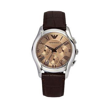 ARMANI Classic 羅馬計時腕錶-咖啡AR1785