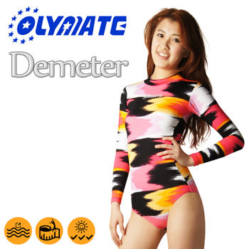 OLYMATE Demeter 連身防曬長袖女性泳裝