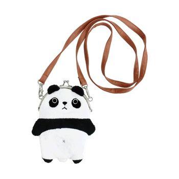 【UNIQUE】動物樂園毛絨珠扣手機常用背包 圓仔