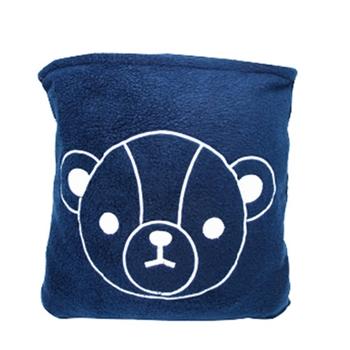 【英國熊】150X180二用抱枕毯-袋裝