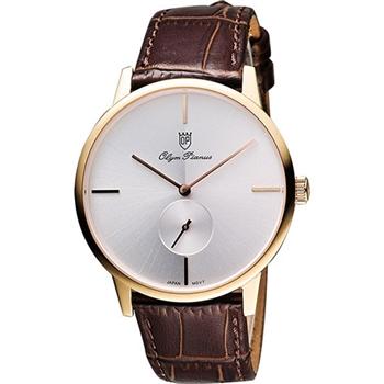 Olympianus 奧柏 光輝時刻小秒針腕錶130-13MR銀面