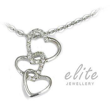 Elite伊麗珠寶 925純銀項鍊 - 甜蜜牽掛