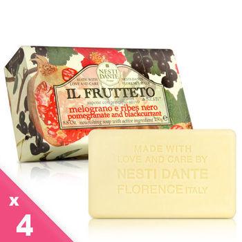 Nesti Dante  義大利手工皂-天然鮮果系列-石榴和黑醋栗(滋養)(250g)-4入