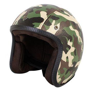 agnes b. SPORT b. logo皮質安全帽(迷彩綠)