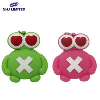 NHJ 愛心青蛙公仔造型隨身碟(8G)(兩色可選)