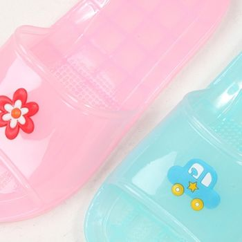 【333家居鞋館】6752歡樂趣味童浴室拖鞋 粉/藍-任
