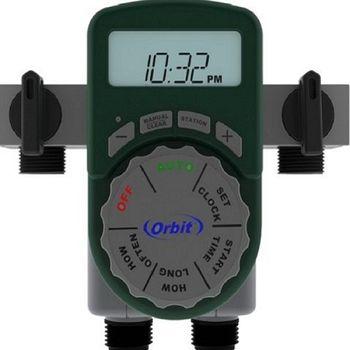 【灑水達人】美國ORBIT四區自動定時灑水器一進四出含兩個閥門