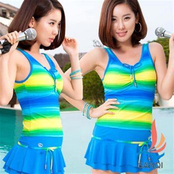 【SANQI三奇】人魚傳說 三件式比基尼泳裝-SQ3048藍