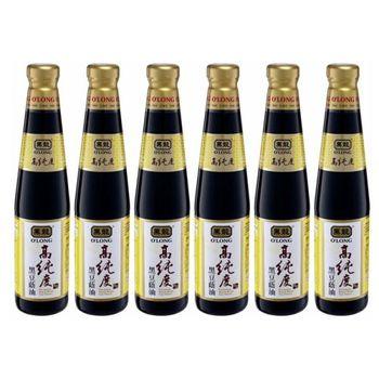 黑龍高純度黑豆蔭油(清油)400mlx6瓶-家庭料理組