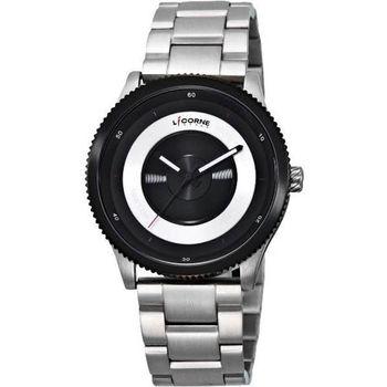 LICORNE焦距系列完美無限時尚腕錶-銀LI009MTBI-1
