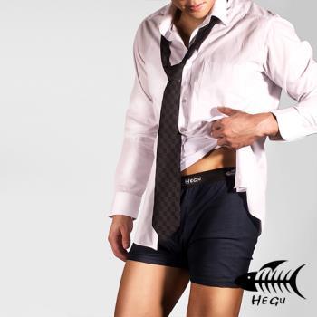 HEGU素色蠶絲絲光棉男性平口褲六件組E