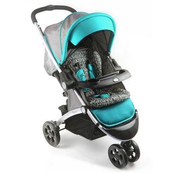 【YIP Baby】時尚豪華雙向三輪推車(附腳套)-藍