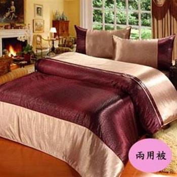 【BELLE VIE】紫夜迷情雙人鋪棉兩用被
