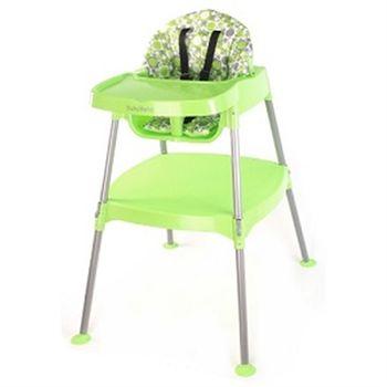 【BabyBabe】多功能嬰幼兒餐桌椅(田園綠)