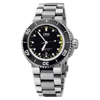 Oris 深度測量潛水機械腕錶黑733.7675.4154-set