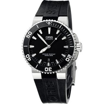 Oris時間之海專業潛水機械腕錶黑733.7676.41.54RS