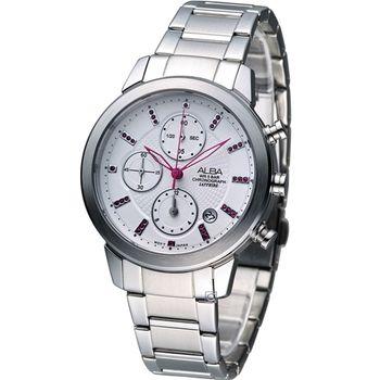 ALBA 粉紅時尚 計時腕錶 YM92-X258S