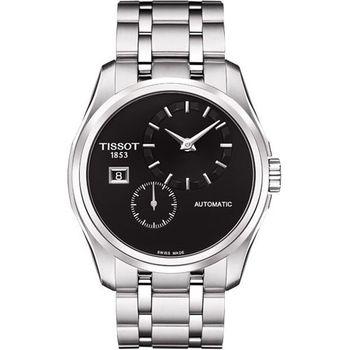 TISSOT建構師偏心系列機械腕錶-黑T0354281105100