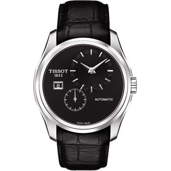 TISSOT建構師偏心系列機械腕錶-黑T0354281605100