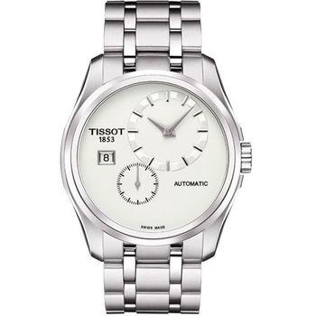 TISSOT建構師偏心系列機械腕錶-銀T0354281103100