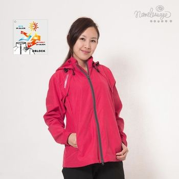 日本namelessage無名世代兩穿式抗UV休閒薄夾克外套女款