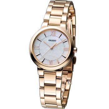 東方錶 ORIENT  高雅珍珠 時尚腕錶 FQC0N001W
