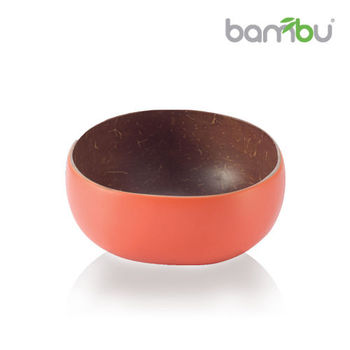 【Bambu】南洋椰子迷你小圓碗 - 焦糖橙