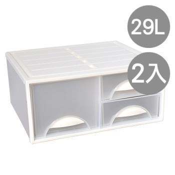 【SONA MALL】白水單層抽屜收納櫃(三抽)(2入)