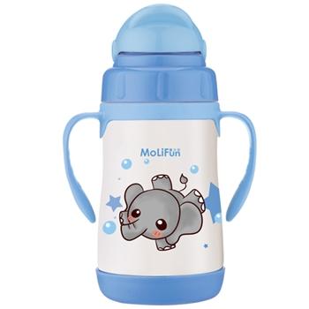 【MoliFun魔力坊】不鏽鋼兒童吸管杯/學習杯260ml-淘氣象