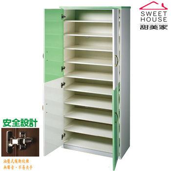 【甜美家】防水防潮防霉四門高筒鞋櫃(馬卡龍4色供選擇)