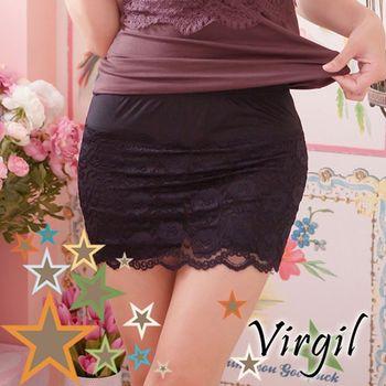【Virgil 運動內搭衣】夢羅蕾絲褲裙安全褲
