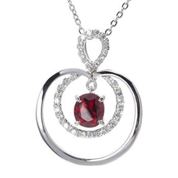Amor精品 星光閃耀紅尖晶石項鍊
