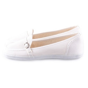 FUFA 造型扣布面懶人鞋(A28)米白