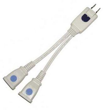 1對2 分離式 轉接電源插座 2P 2座 4入