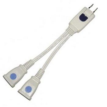 1對2 分離式 轉接電源插座