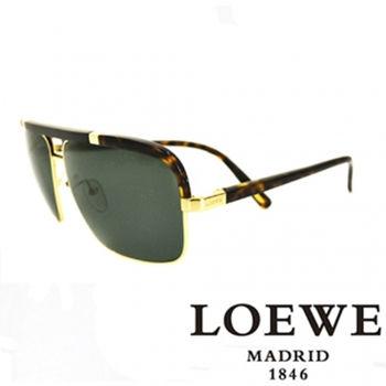 LOEWE 軍用質感太陽眼鏡(豹紋) SLW404-316P