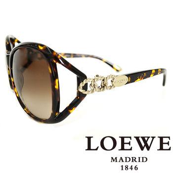 LOEWE 三環扣繩太陽眼鏡(琥珀) SLW692-0722