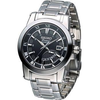 SEIKO Premier 人動電能時尚腕錶 5M84-0AA0D