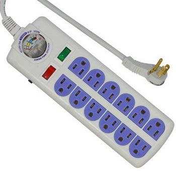 附電流表式 3孔12座2切安全延長線 1.8m (TC-656)