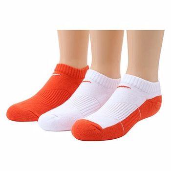 Nike 學生無外秀白橙混搭短襪3入組