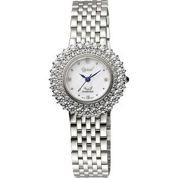 Ogival 愛其華 薔薇系列真鑽腕錶-白380-01DLS