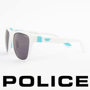 POLICE 個性型男眼鏡-膠框(水藍色)POS1823-4A0V