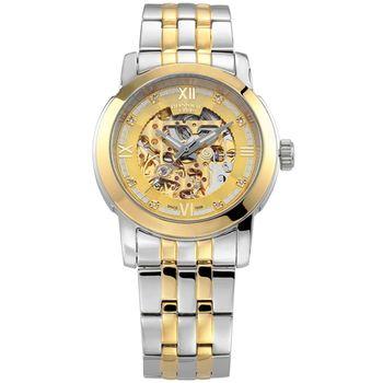 BOSSWAY製錶師鏤空機械鑽錶(金-42mm)