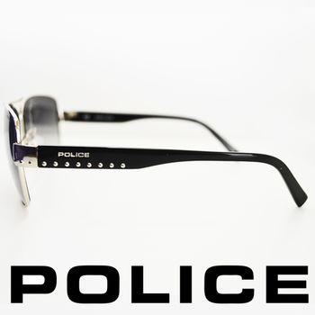 POLICE 型男眼鏡-金屬框(銀黑) POS8880-0579