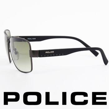 POLICE 型男眼鏡-金屬框(霧灰) POS8880-0627